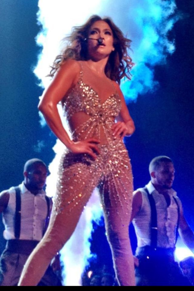 Front row JLo concert at Rod Laver Arena
