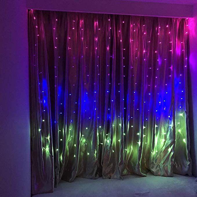 Amazon Com Fefelightup Rainbow Curtain Lights Fairy Lights