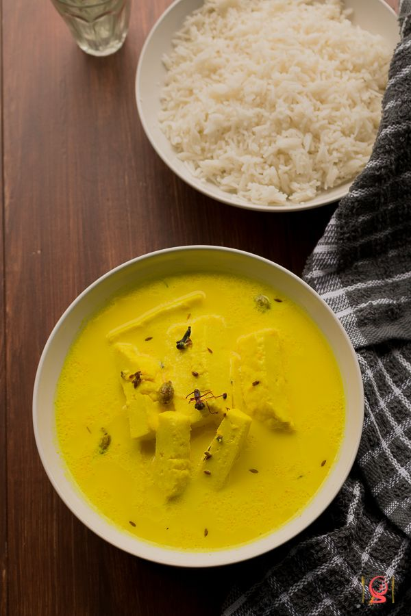 Kashmiri Style Paneer in Spiced Milk Gravy