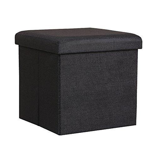 Fine Insassy Folding Storage Linen Like Fabric Ottoman Cube Inzonedesignstudio Interior Chair Design Inzonedesignstudiocom