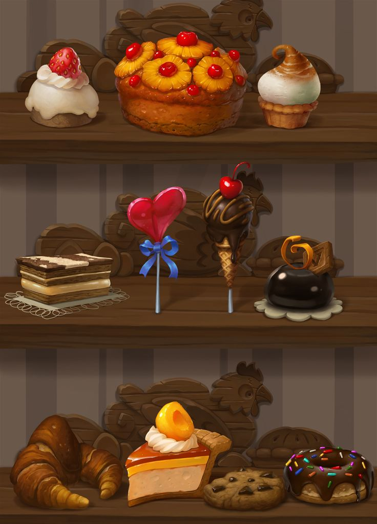 Hand paintedBakery Project — polycount - by Vando_01 (http://polycount.com/discussion/166795/hand-paintedbakery-project)