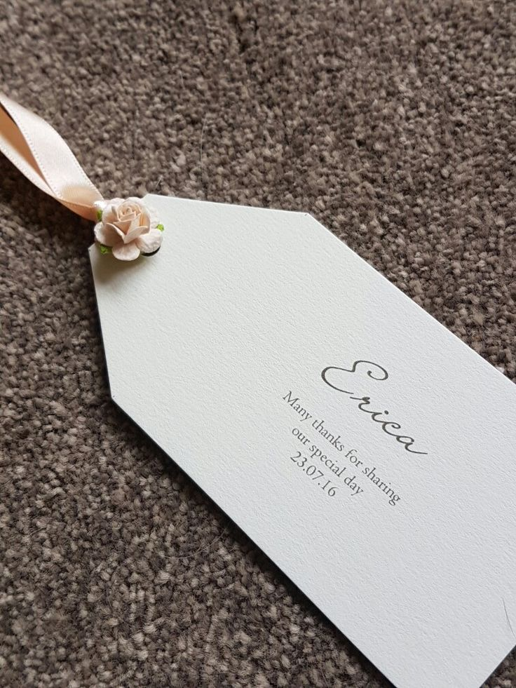 are labels on wedding invitations tacky%0A Luggage tag place settings with peach roses