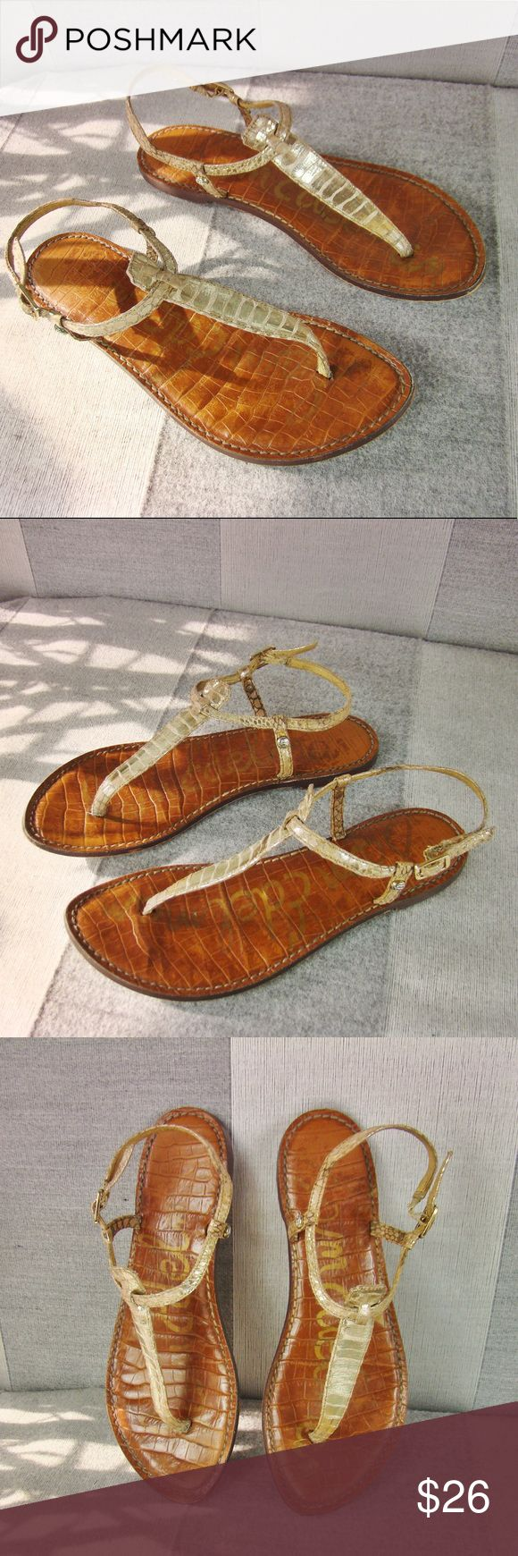 Sam Edelman Gigi sandals Very Good condition, discoloration shows on the straps, snakeskin area. Sam Edelman Shoes Sandals