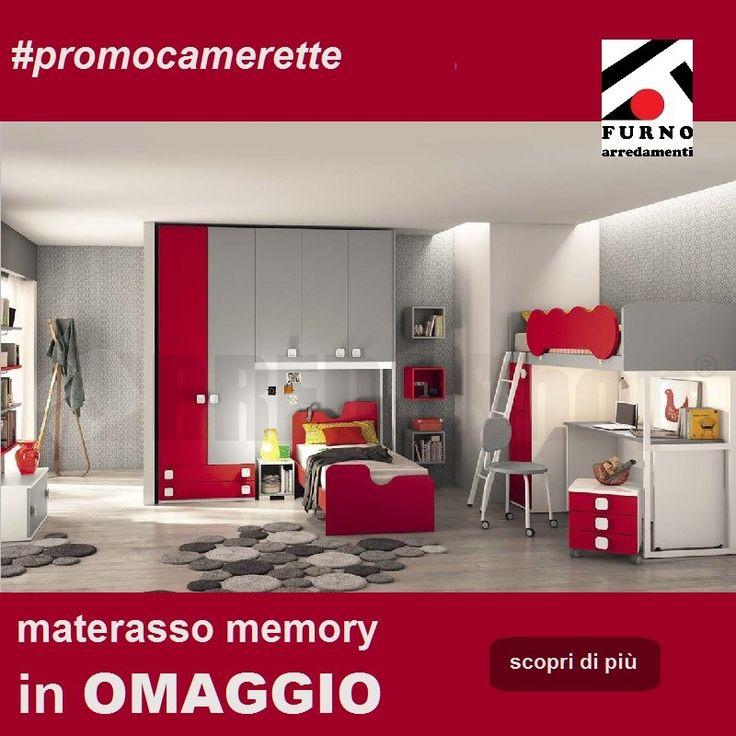 """Camerette - promozione """"materasso in omaggio"""". Acquista una cameretta entro il 30 settembre 2017 e riceverai in omaggio un materasso singolo del valore commerciale di € 300. #camerette #promocamerette #furnoarredamenti"""