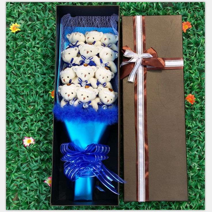 ==> [Free Shipping] Buy Best Hot sale 12 elegant teddy bears Cartoon Doll Bouquet feather gift box creative Valentine's day and mother's day gift Online with LOWEST Price | 32602490797