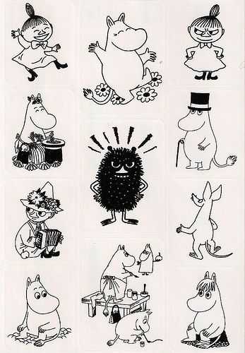 Moomin sticker sheet | Explore ~Elenna~ photos on Flickr. ~E… | Flickr - Photo Sharing!