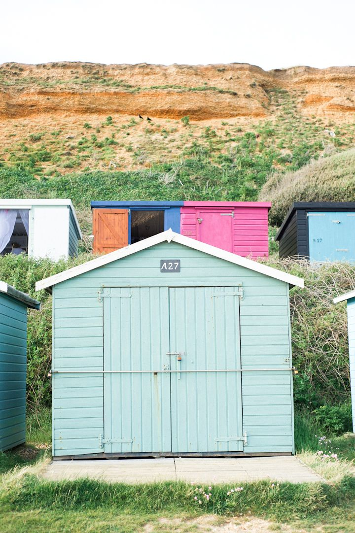 Beach huts. Barton-on-Sea, England