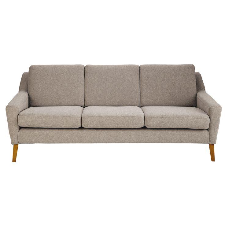MAISONS DU MONDE - Sofa 3-Sitzer Linara kittfarben Mad Men