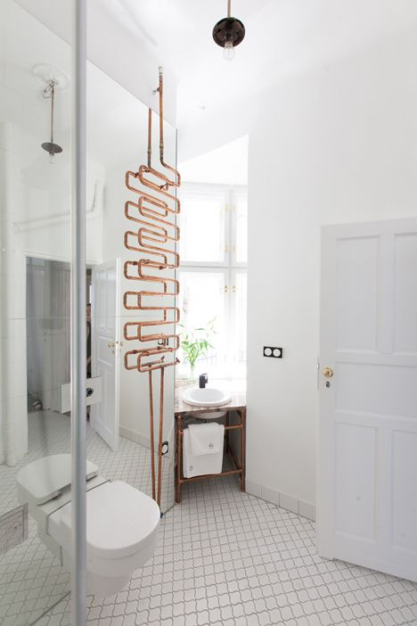 cuivre-tube-radiateur-salle-de bain-deco-Mamastudio - Le blog deco de MLC