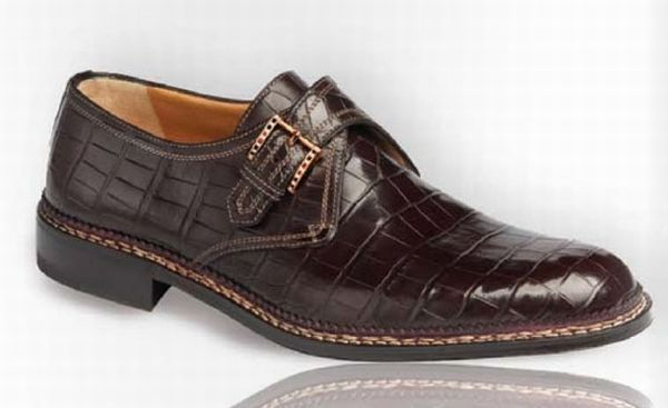 """Called the """"world's most expensive mens shoes"""" - handcrafted from alligator skin - $38,000 from A. Testoni."""