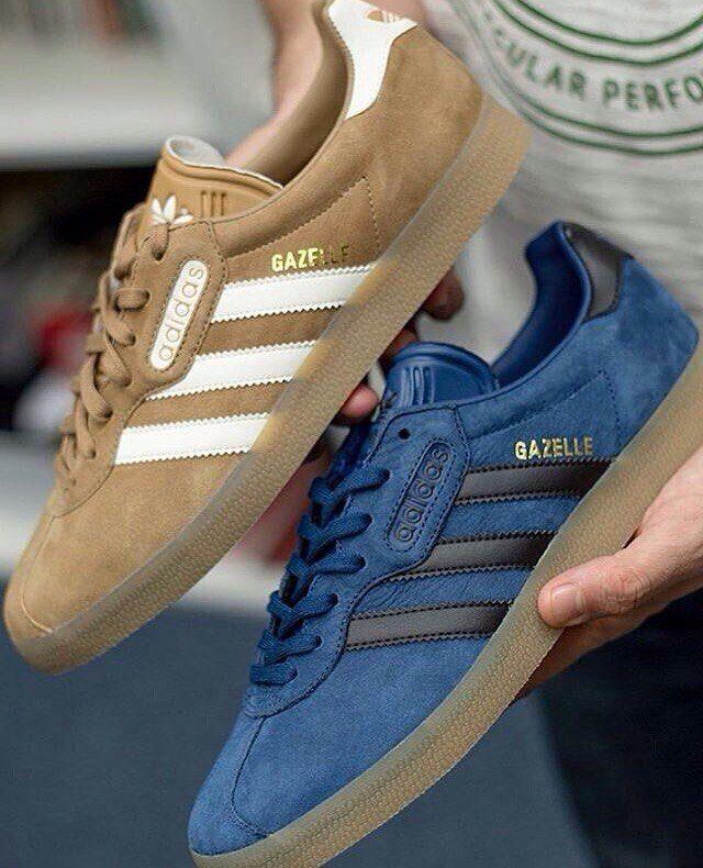 adidas gazelle brown blue