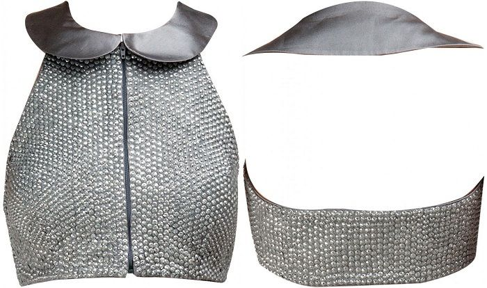 Buy Satya Paul's Peter Pan Collar Grey Blouse @ Looksgud.in #Designer #Blouse #…