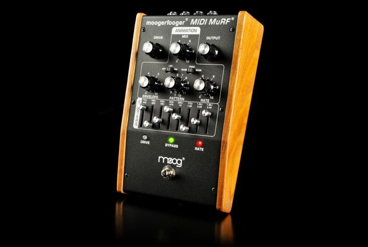 """Moogfooger MuRF stands for """"Multiple Resonance Filter Array"""". What this means is the MuRF has 8 filters - their levels are controlled by 8 sliders. It looks like a graphic eq, but the sound of the filters are very different: warm and resonant."""