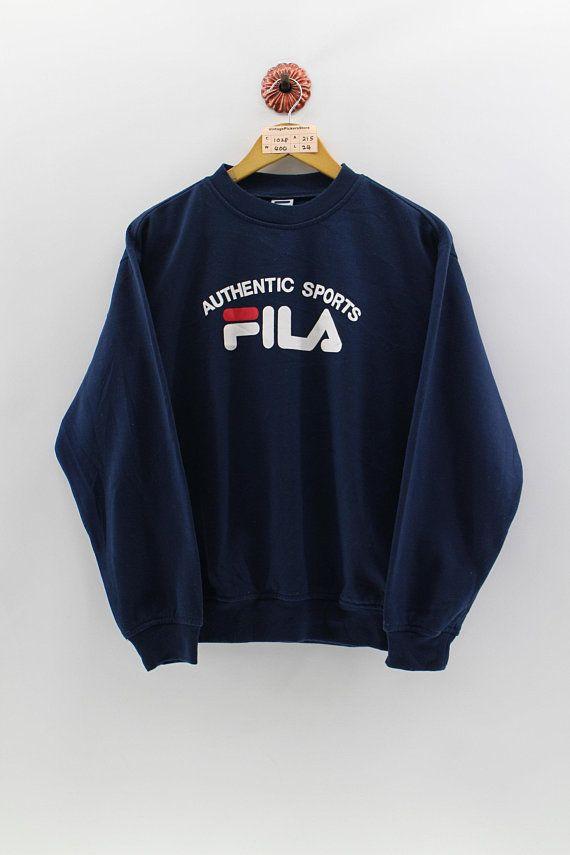 7b519cef598d FILA ITALIA Authentic Pullover Sweatshirt Medium Unisex Biella ...