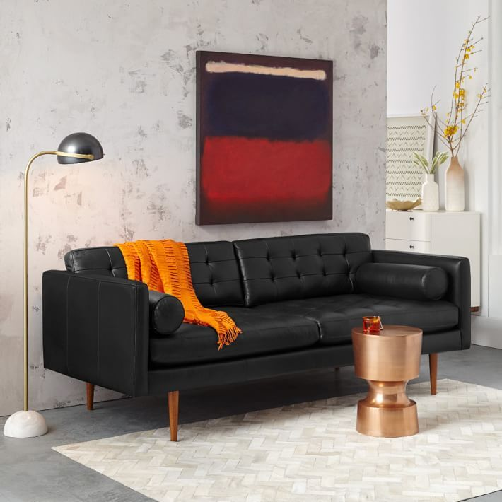 mid century style sofa images west elm home tours legs for sale