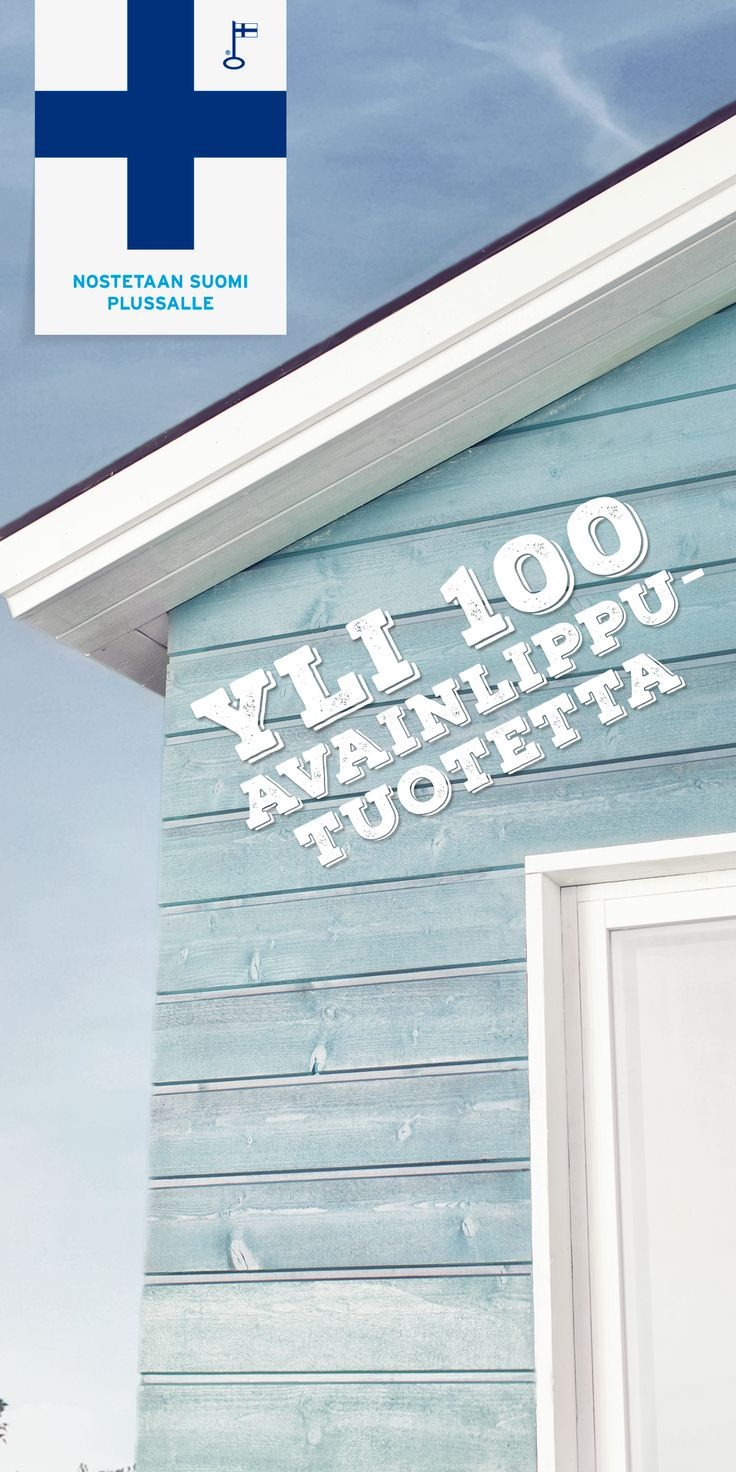 Nostetaan Suomi plussalle! Tiesitkö, että Tikkurilalla on yli 100 Avainlipulla merkittyä tuotetta? Tee sinivalkoinen valinta myös ulkomaalauksessa. #tikkurila #maalaustalkoot #avainlippu #suomiplussalle #ulkomaalaus