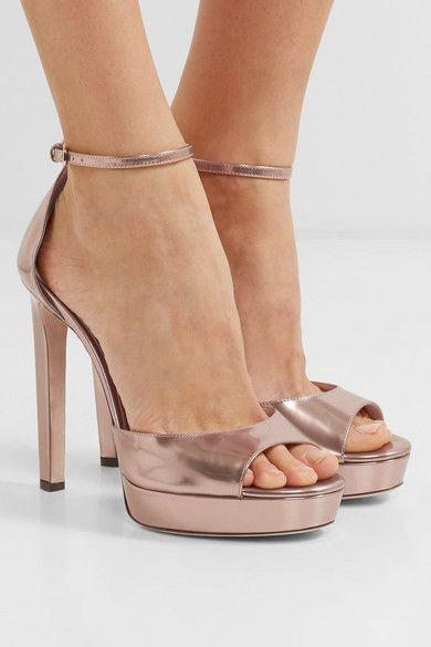 4ef2ca38da0 Jimmy Choo - Pattie 130 metallic leather platform sandals in 2019 ...
