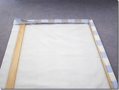How to make framed fabric panel