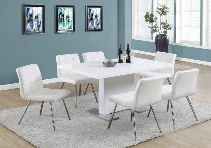 Dining Table 35 X 60 High Glossy White In 2020 Dining Table