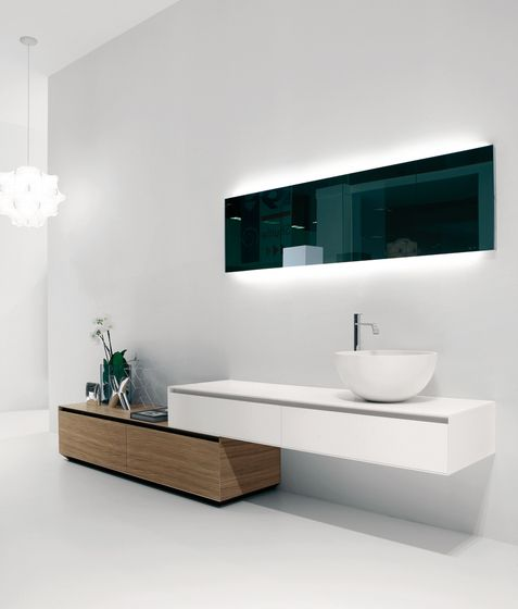 FLASH BACK-LIT MIRROR BY ANTONIO LUPI | Ambient Bathrooms