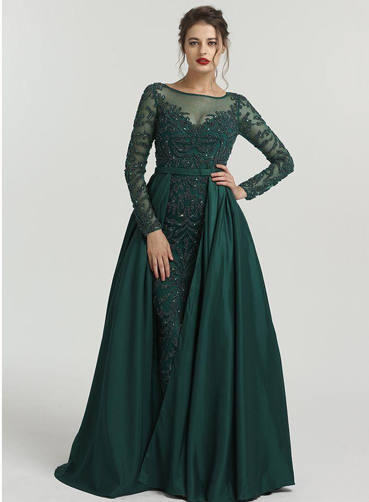 Pin auf Abendkleid Ballkleid Dunkelgrün
