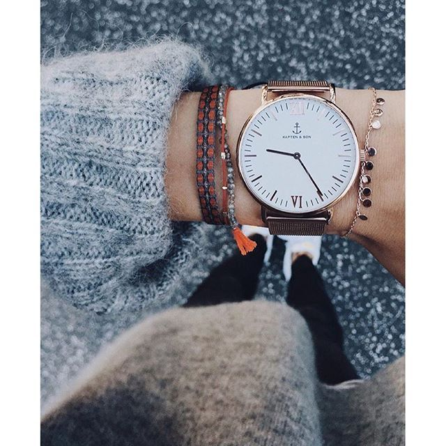 @mvb412 looking great with our new Campus Mesh watch in rose gold - get yours on www.kapten-son.com