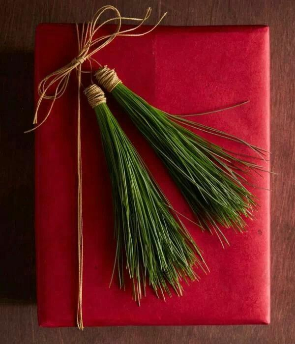 Oh Joy!...wrapping up with pine needle tassles!...love it!!