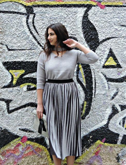Silver Skirt - Study About Fashion - by Alexandra Alexandridou