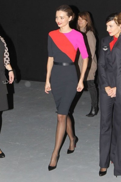 Launching the Qantas new flight attendant uniform in Sydney, Australia April 16, 2013