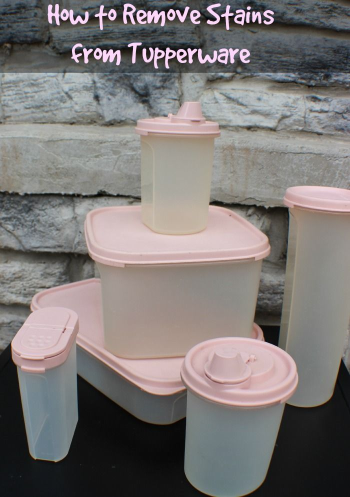 The good news is that there are some things you can do to remove stains from Tupperware containers.