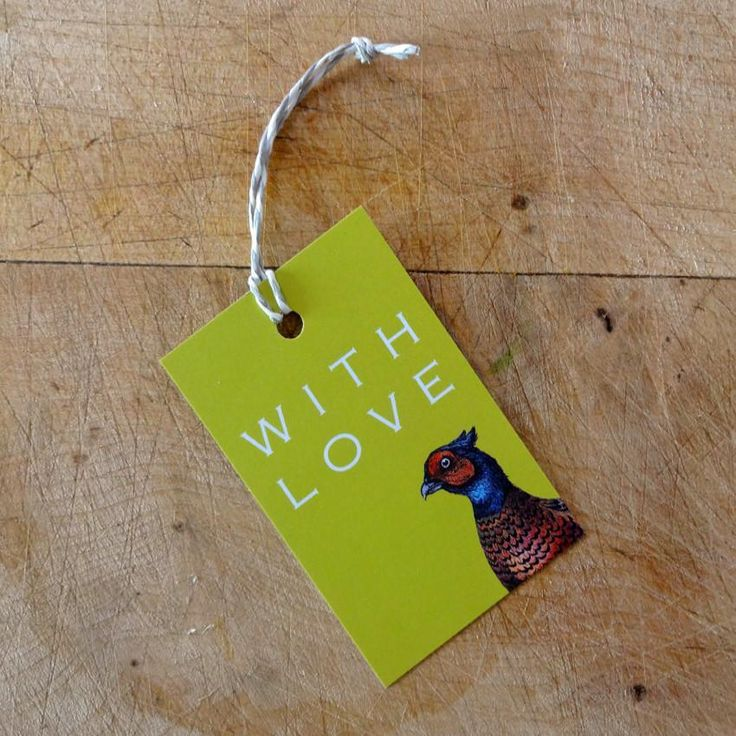 Pheasant gift tags (pack of 5)