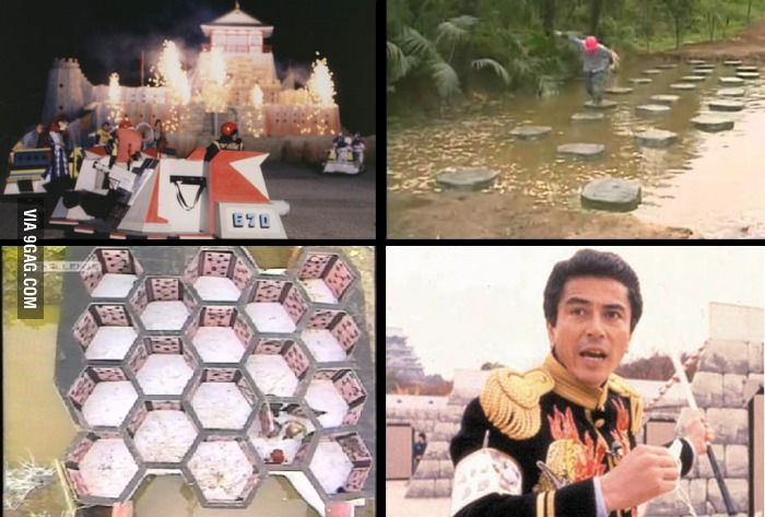 Takeshi's Castle! Miss this, so much better than Wipeout.