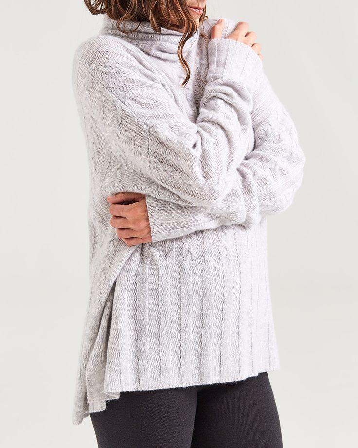 cashmere oversized cableknit turtleneck
