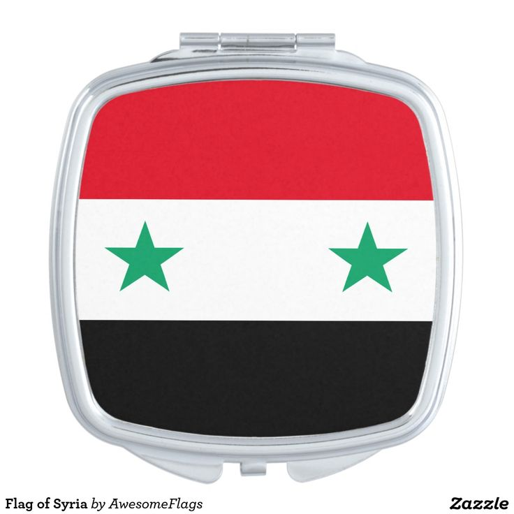 Flag of Syria Travel Mirror