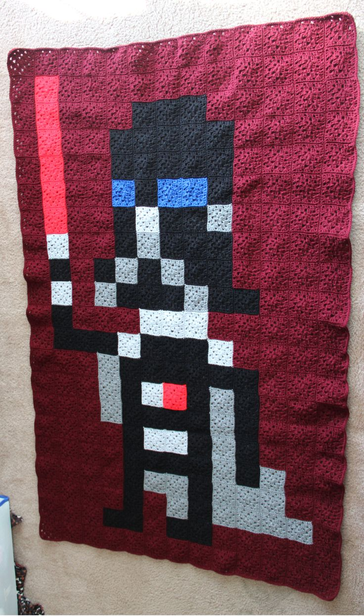best Geeky crafts images on Pinterest Craft Crochet blankets