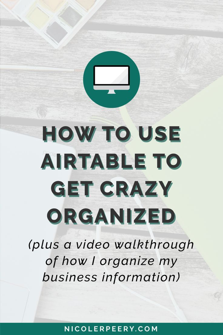 What's Airtable? Well, imagine a database and a spreadsheet having a one night stand. Click through for a video walkthrough of how I use Airtable to stay crazy organized. via /nicolerpeery/