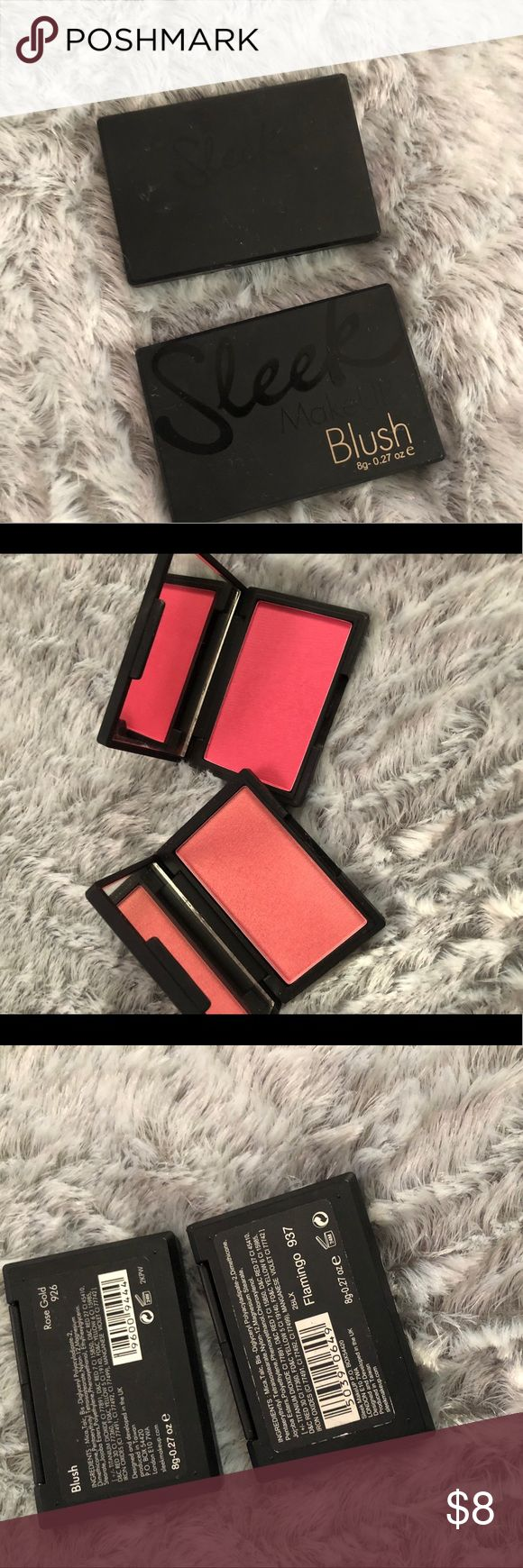 Sleek blushes Selling sleek blushes in Rose gold- dupe for nars orgasm and flamingo- very pigmented bright pink blush- a little goes a long way Sleek Makeup Blush