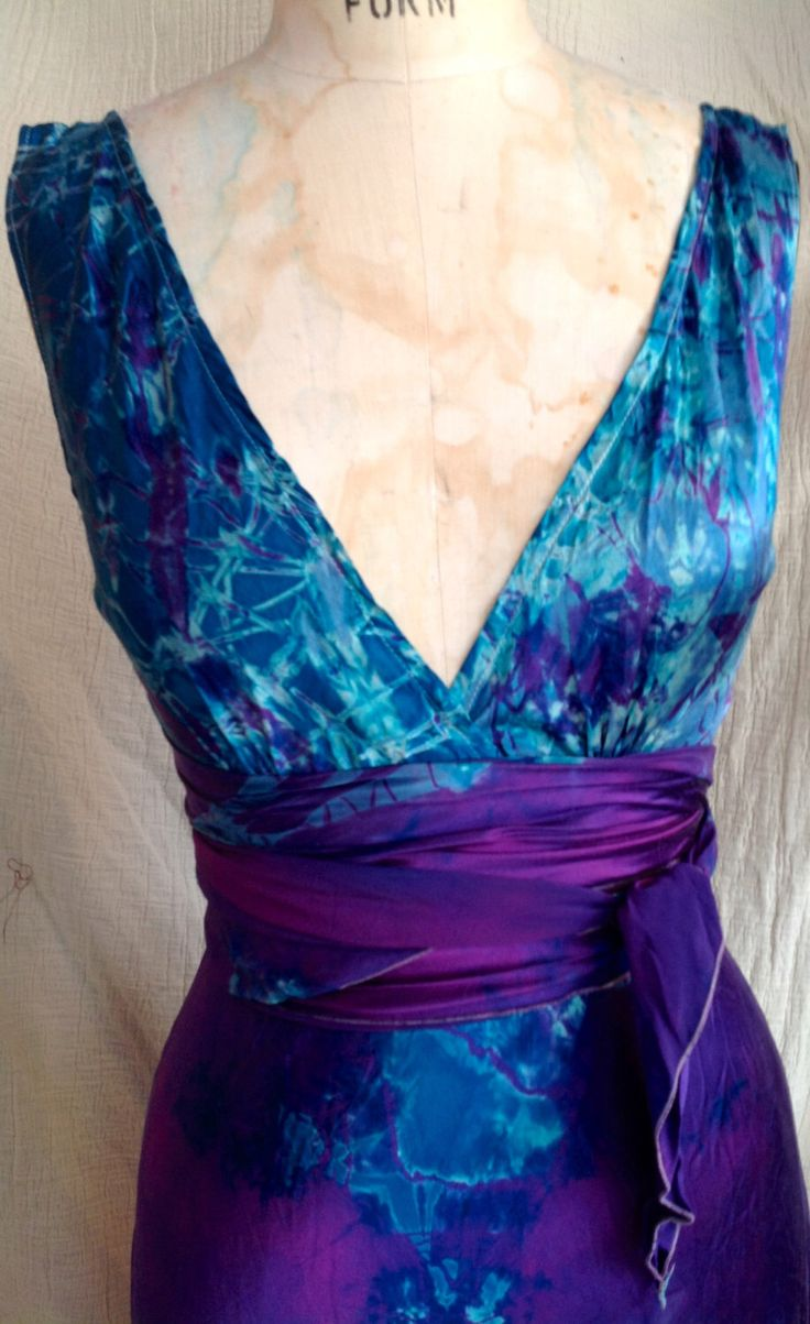 Purple turquoise silk wedding dress vneck boho beach bridal gown tie dye bridesmaid dress island wedding dressesdestination weddings dress by momosoho on Etsy https://www.etsy.com/listing/267766230/purple-turquoise-silk-wedding-dress