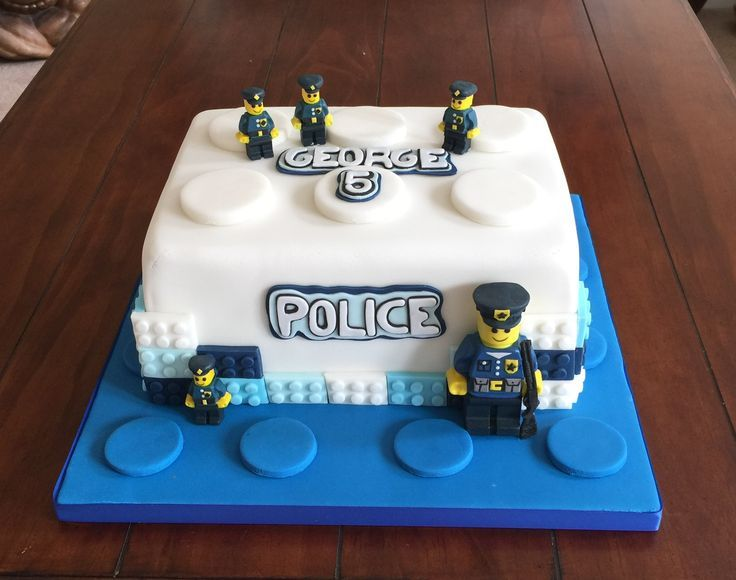 Magnificent Lego Police Cake Police Birthday Cakes Lego Birthday Cake Funny Birthday Cards Online Necthendildamsfinfo