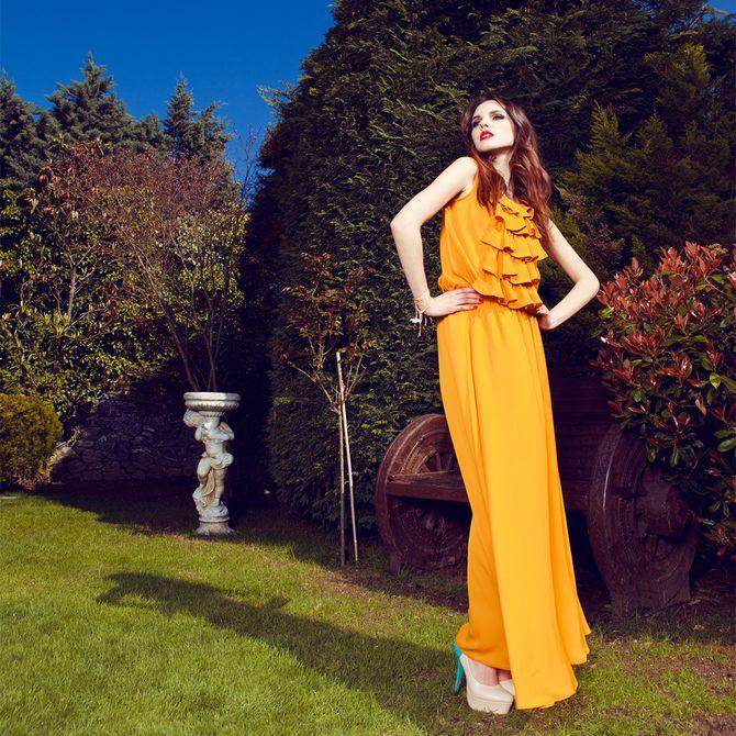 Sorcha Design Orange Dress | Apparel | Upstored