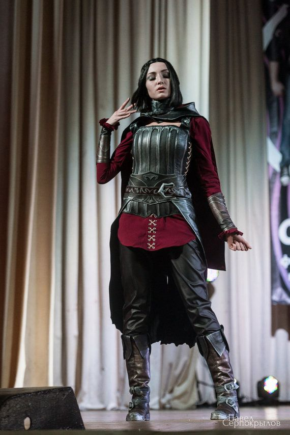 Skyrim Character – Serana  Costume includes: necklace, brooch, coat, blouse, corset, bracers, pants, boots and belt.  This costume can be made for custom any size. We will give you all instructions on how to get right measurements!   The costume will be ready in 6-8 weeks. PLEASE! Don`t forget that moment of parcel delivery not depend on us. About 6-8 weeks costume sewn + 3-5 weeks shipping! WE Not start to sew costumes, if you dont give your measurements.  Shipping details: Shipping can...