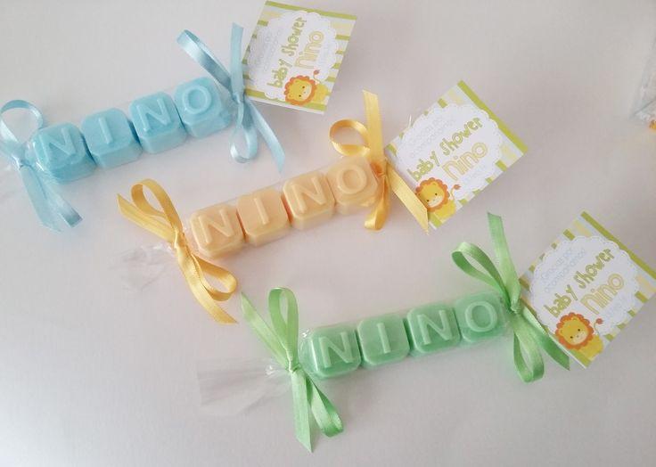 Originales jabones para baby shower, ideales para ser recordados, diferentes colores y diseños