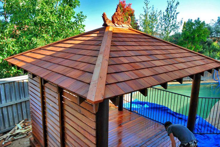 bali hut shingle roof - Google Search