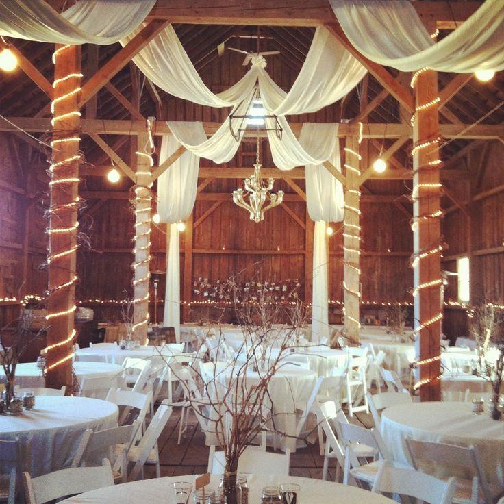 Barn wedding decor Century Barn in Mt