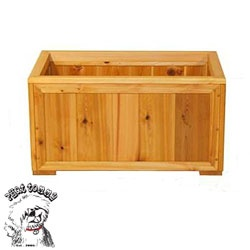 how to build a large planter box using 6x6