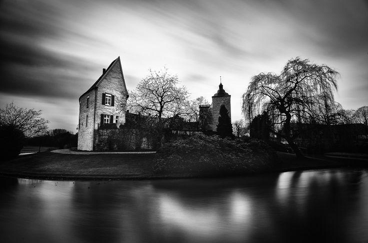 Langzeitbelichtung des Schlosses in Steinfurt