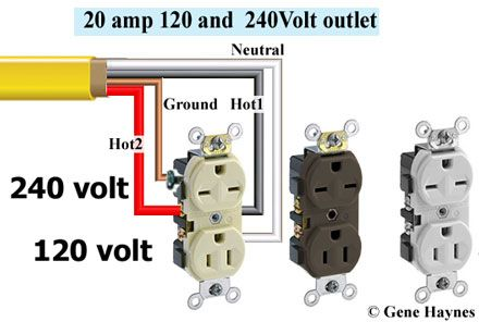110 Volt Wiring Diagram Breaker Box 240 120 Volt Receptacle In 2019 Electrical Wiring Home
