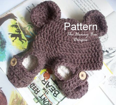 cuddle bear newborn set pattern..would be cute in pink for girls!