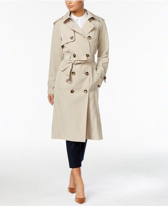 Shop Now - >  https://api.shopstyle.com/action/apiVisitRetailer?id=621749163&pid=uid6996-25233114-59 London Fog Double-Breasted Trench Coat  ...