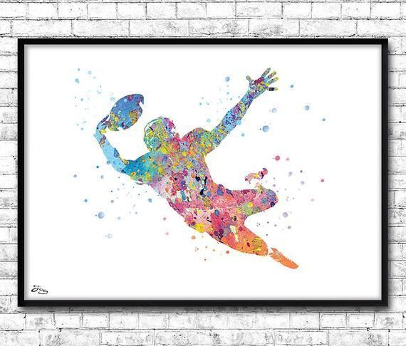 Rugby Poster Sport Art Print Sport Poster Gift Idea Birthday